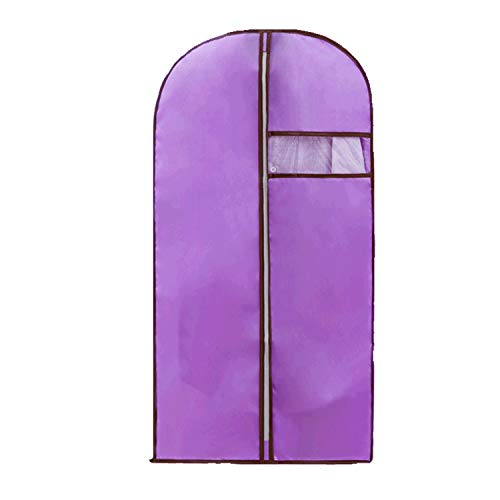 Garment Bags, Premium Quality Breathable Women's Dress Men's Suit Covers with Clear Window, Full Zipper Suit Bag for Suit Carriers, Gowns, Storage or Travel, 55cm105cm (Purple, 55cm105cm)
