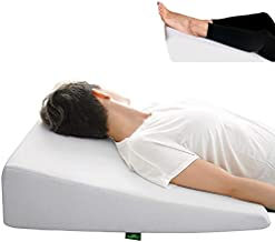 Wedge Pillow for Sleeping - 7.5 Inch Memory Foam Bed Wedge for Sleeping, Reading, Post Surgery & Leg Elevation - Triangle Pillow with Washable Cover 26x25x7.5 inch