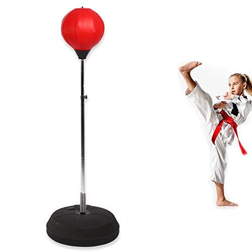SOULONG Erwachsene Punchingball Standboxsack Boxen Set Standbox Handschuhen Punching-Training Verstellbar Höhe 120-150 cm Rot Geeignet für den professionellen Einsatz im Fitness-Studio sowie zu Hause