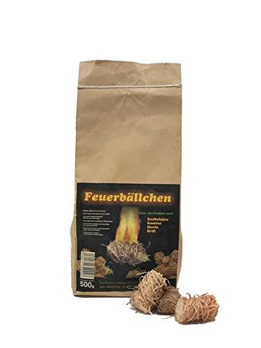 RaiffeisenWaren 104092 Kaminanzünder, Feueranzünder, Feuerbällchen (Anzünder ökologisch, aus Naturprodukten - Wachs, Naturholz; Brenndauer ca. 10 min) 0,5 kg 1 Stück