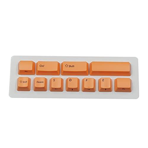 Conjunto de Llaves KeyCaps de ABS Colorido para el Teclado mecánico 11 Llaves de Llaves 2 Teclas Teclado keycaps (Color : Purple)