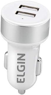 Carregador USB Veicular 12V, 2 Saídas 2.1 A, 10 W, Elgin, 46RCV2USB000, Branco