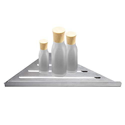 CMOISO Estanteria Baño, Estante Ducha, Estante Impermeable Triangular de Acero Inoxidable para baño sin Perforaciones (Plateado)