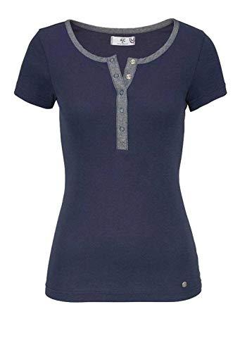 AJC Marken-Damen-Shirt mit Druckknopfleiste, Marine (40/42)