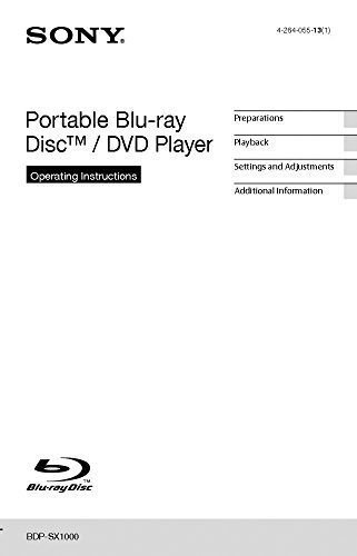 Sony BDP-SX1000 Blu-ray Player Owners Instruction Manual Reprint [Plastic Comb]