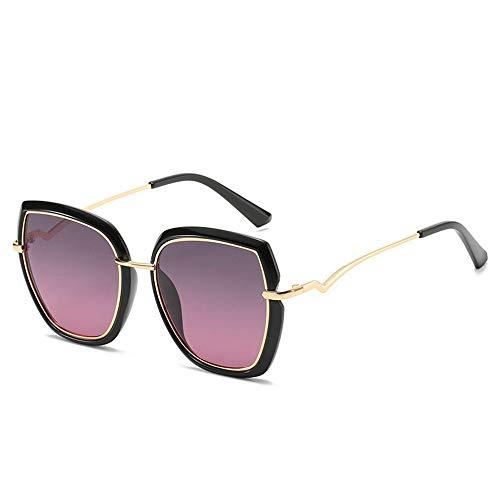 ShawnBlue , Nuevas Gafas de Sol, señoras Simples Gafas, polarizado Gran Tendencia de la Moda del Marco del Todo-fósforo (Size : Gray Powder Black Frame)