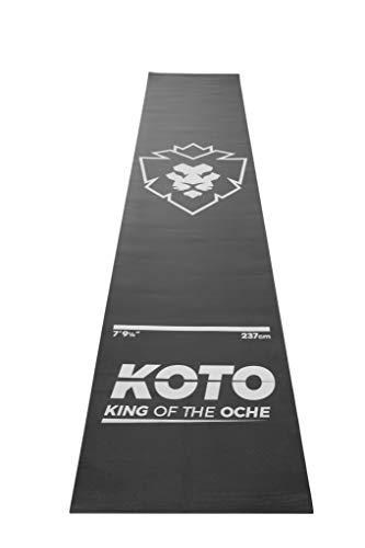 KOTO Dartmatte, Dart Teppich rutschfest Schwarz mit Abwurlinie 290x60 cm