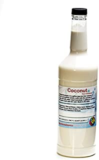Coconut Shaved Ice and Snow Cone Unsweetened Flavor ConcentrateQuart 32 Fl Oz Size (must add sugar and water)