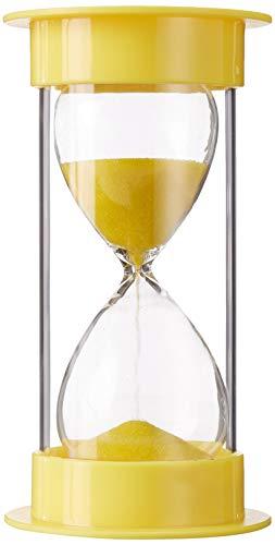 Toirxarn Sanduhr Sanduhr Doppelter Schutz für Küchentimer und Zeitmessung 5 min 10 min 15 min 30 min 45 min 60 min-5 min in gelb