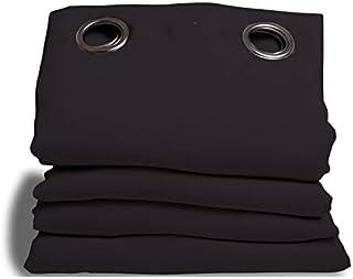 moondream HM6902047Noise insulation/Blackout/Thermal Curtain 145x 260cm Cotton, Cotton, black,40cm x 27cm x 13cm