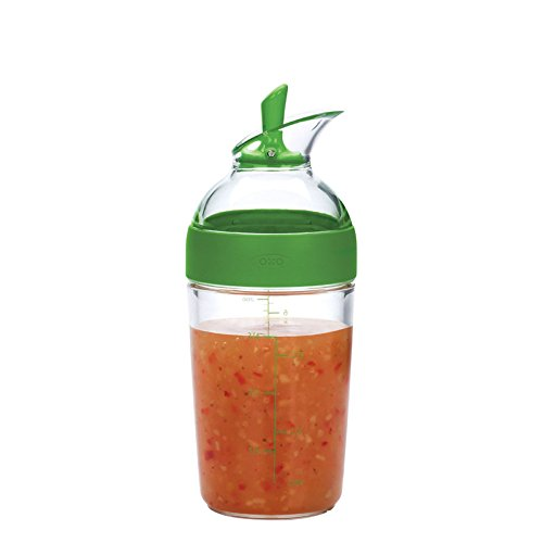 OXO 1176800 Good Grips Little Salad Dressing Shaker, Green,Small