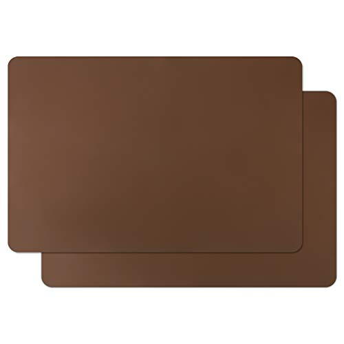 Extra Large Silicone Craft Mat, Gartful 23.6 x 15.7 inch Silicone Sheet for Resin Art, Jewelry Casting Molds, Paints, Table Place Mats Countertop Protector, Multipurpose Mat, Coffee Brown, Set of 2