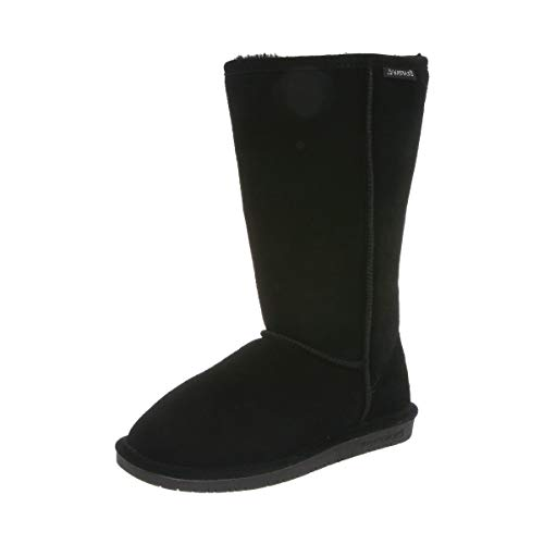 BEARPAW Women's Emma Tall Fashion Boot Black 8