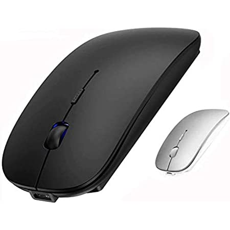 Amazon Com Rechargeable 2 4ghz Wireless Bluetooth Mouse Wireless Mouse For Macbook Pro Mac Air Blluetooth Mouse For Ipad Notebook Tablet Computer Black Electronics
