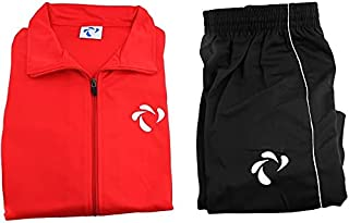 Didos Dts-009 Training Suit For Unisex-Red Black, Small