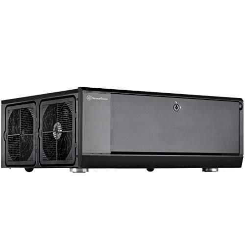 SilverStone Technology GD10B Home Theater Computer Case (Htpc) with Lockable Front Panel for ATX/Micro-ATX Motherboards GD10B-x