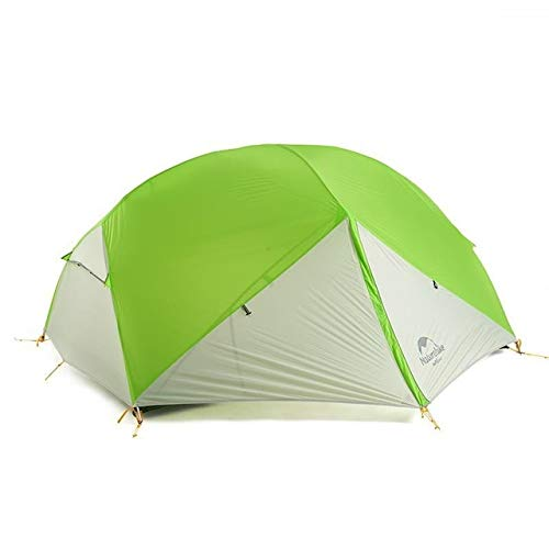 Mdsfe Naturehike Mongar 2 Person Tourist Tent Waterproof 15D Nylon Fabric Camping Tent Ultralight Aluminum Alloy Large Space With Mat-Green,A1