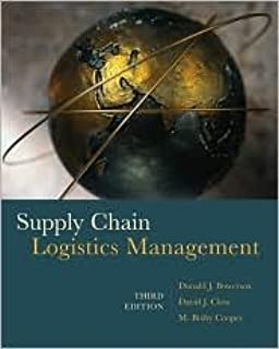 Supply Chain Logistics Management 3th (third) edition Text Only