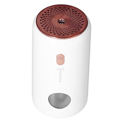Sdfafrreg Humidificador USB, Humidificador Ligero De Coche De Humidificación De 2 Engranajes Silencioso para Dormitorio para Oficina para Hogar(Blanco)