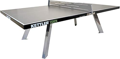 Review Of Kettler Eden Weatherproof Stationary Outdoor Table Tennis Table with Galvanized Steel Legs and Permanent Net and Post System
