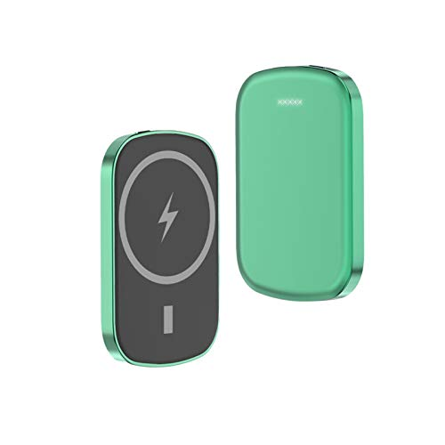 Wireless Charger Magnetic Power Bank 10000mAh for iPhone 12 12 Pro Max 12 Mini 15W Qi Fast Charging Portable External Battery Pack (Green-10000mAh)
