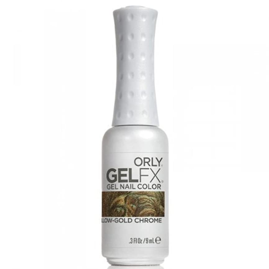 インポート光沢以下Orly GelFX Gel Polish - Yellow-Gold Chrome - 0.3oz / 9ml
