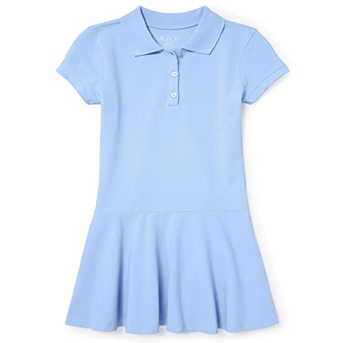 The Children's Place Big Girls' Short Sleeve Polo Dress, Day Break, S (5/6)