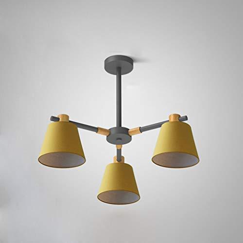LLT Luz Colgante Útil 3 - Cabeza Amarilla Lámpara Lámpara Araña Nórdica Lámpara Colgante