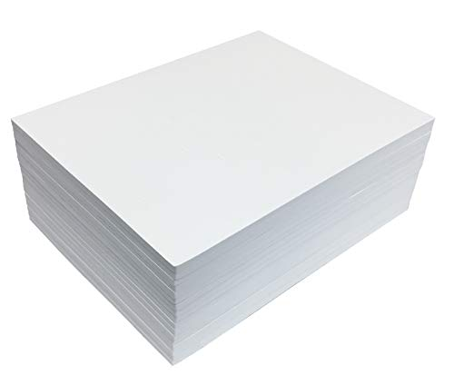 White EVA Foam Sheets, 20 Pack, 6mm Extra Thick, 9 x 12 Inch, by Better Office Products, White Color, for Arts and Crafts, 20 Sheets Bulk Pack