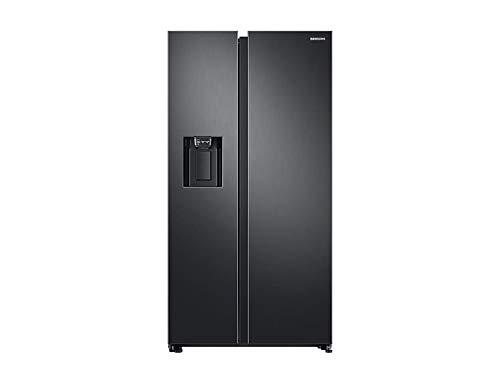 Samsung RS68N8221B1 koelkast met zijdeur, zwart, 617 l, A++ – Side-By-Side koelkast (zwart), Amerikaanse deur, LED, R600a, glas)
