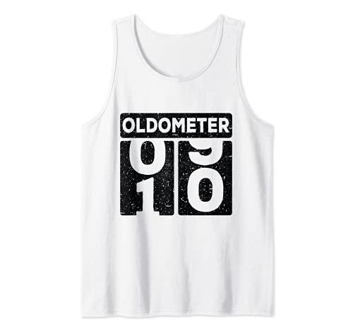 Oldometer 09-10 años Divertido 10mo cumpleaños Hombres Camiseta sin Mangas