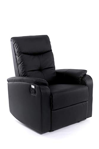 Sillón Relax Oslo - Con reclinación Manual 3 Posiciones - Color Negro
