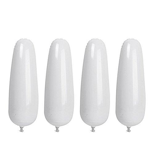 d'embauchoirs - SODIAL(R) 2 paire Embauchoirs a Bottes Gonflables en Plastique 32cm Blanc
