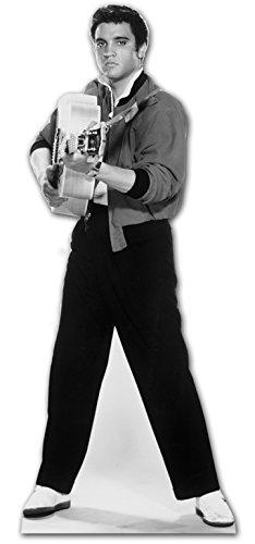 Star Cutouts, kartonnen display van Elvis, die met zijn gitaar schiet.
