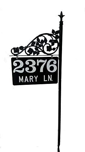 Nite Brite Personalized Reflective Address Sign Post Big Numbers Easy to See Highly Visible 911 Deliveries (36)