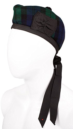 I Luv LTD Gents Glengarry Hat Highlandwear Black Watch Tartan Size 60