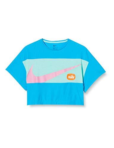 NIKE G Nk Top SS Jdiy T-Shirt, Niñas, Laser Blue/Emerald Rise/(Magic Flamingo), L
