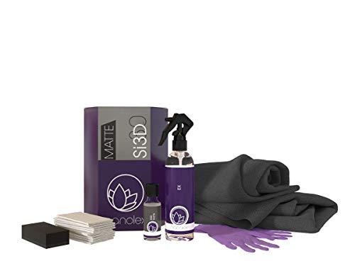 Nanolex Si3D Matt Lackversiegelung SET, Nanoversiegelung für erhöhte Lackhärte & Farbvertiefung, Quartz Coating für langanhaltenden Mattlackschutz mit Lotuseffekt, 30 ml + 200 ml
