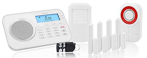 OLYMPIA Protect 9878 GSM Haus Alarmanlage Funk Alarmsystem mit Außensierene und App plug & play bis zu 32 Sensoren