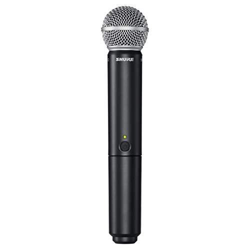 Shure BLX2/SM58 Handheld Wireless Transmitter with SM58 Vocal Microphone Capsule, for use with BLX...