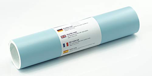 Lámina de tatuaje de pared mate 21 cm x 3 m - elección de colores, Color:Azul Pastel