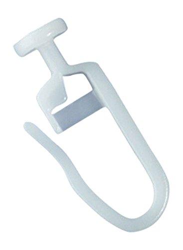 rewagi - (200 Stück Hochwertige Gardinengleiter, Faltenlegehaken - Gleiter mit Rundkopf 7 mm - Innenlauf 4 mm - Farbe: weiß - 25, 50, 100, 200, 500, 1000 Stück (200 Stück)