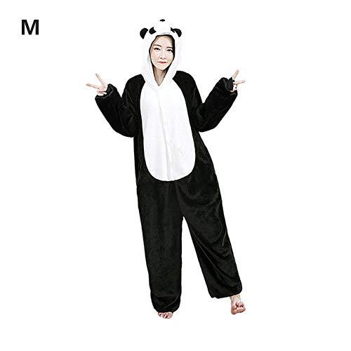 whelsara Pijamas de Panda Pijamas de UnaPieza Adulto Pijamas Unisexo Adulto Traje Disfraz Adulto Animal Pyjamas Standard