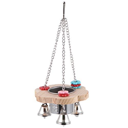 Balacoo Haustier Vogelfutter Fütterung Trinken Hängende Tasse Feeder Spielzeug Edelstahl Coop Kleiderbügel Wasser Tasse für Papagei Käfig Wellensittich Sittich Nymphensittich