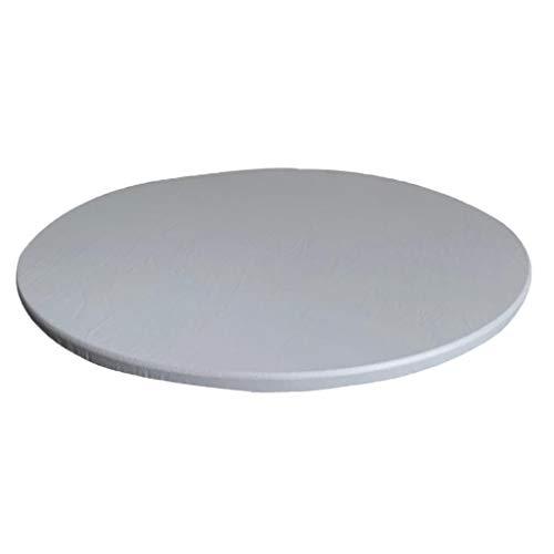 Amuzocity Cubierta de Mesa de Mantel Elástico Redondo Antideslizante Impermeable, 90cm / 35 Pulgadas Protector de Mantel Resistente a Las Manchas para Comedor, Cocina y Picnic