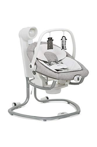 Set Joie Serina 2in1 Babyschaukel & Windel Blaubaer, elektrische Babywippe mit 10 Schlafliedern, Tragbare Babywippe, Babyschaukel elektronisch ab Geburt bis 9kg