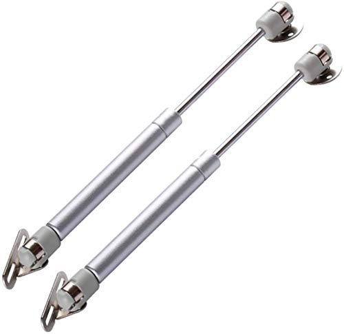 2Pcs 200N/45lb Gas Strut Gas Spring Lift Support Cabinet Door Lift Pneumatic Compatible Universal Kitchen Cabinet Hinges Hydraulic Cabinet Hinge Support Door