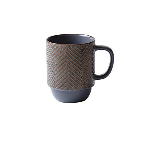 zxb-shop Cerámica Simple Taza de café, Creativo Taza de café con la manija, Taza Grande de la Capacidad for el hogar y la Oficina (Color : B)
