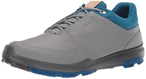 ECCO Mens Biom Hybrid 3 GTX, Scarpe da Golf Uomo, Grigio (Concrete/Scarlet 50943), 43 EU