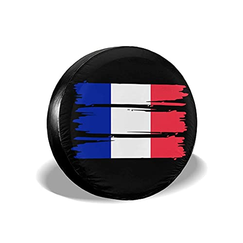 Hokdny Cubiertas para Llantas, Protector Impermeable para Llantas De Repuesto,Bandera De Francia Universal Fit